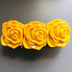 Jewelry - Super Fun Mustard Yellow Flower Stretch Bracelet